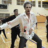 "Ean Biggs dances to Michael Jackson's Thriller with 100 other ""zombies"" at the Paul Derda Recreation Center on Saturday as a fundraiser for A Precious Child. <br /> October 29, 2011<br /> staff photo/ David R. Jennings"