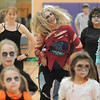 "Dusty Jean Fries , center, dances to Michael Jackson's Thriller with 100 other ""zombies"" at the Paul Derda Recreation Center on Saturday as a fundraiser for A Precious Child. <br /> October 29, 2011<br /> staff photo/ David R. Jennings"