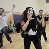 "Denise Brozovich dances with 100 ""zombies"" for Michael Jackson's Thriller at the Paul Derda Recreation Center on Saturday as a fundriaser for A Precious Child.<br /> October 29, 2011<br /> staff photo/ David R. Jennings"