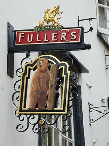 Pub Sign - The Bear, Alfred Street, Oxford 180410