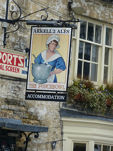 Pub Sign - The Punchbowl, Oxford Street, Woodstock 130327