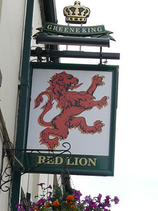 Pub Sign - Red Lion, Corn Street, Witney 110720
