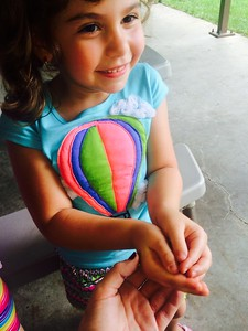 Elizabeth Roberts said one of her top summer memories of 2015 is with her young niece, Marissa Badalamenti, 5, who got to hold a frog for the first time at the start of the summer. It was at her pre-school picnic in the Shelby Township area, and her friends had found it. This fall, Marissa starts kindergarten. Submitted by Elizabeth Roberts