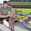 Every Mid-Wach school (Leominster, Fitchburg, Lunenburg, Oakmont, North Middlesex, Nashoba and many more) sent its athletic director and 2 or 3 student ambassadors to the Boys and Girls Club in Leominster to do volunteer work to help keep the club looking good. Working on some of the bikes the club had is Michael Bourque a sophomore at Fitchburg High School. SENTINEL & ENTERPRISE/JOHN LOVE