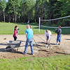 Every Mid-Wach school (Leominster, Fitchburg, Lunenburg, Oakmont, North Middlesex, Nashoba and many more) sent its athletic director and 2 or 3 student ambassadors to the Boys and Girls Club in Leominster to do volunteer work to help keep the club looking good. Students work on getting the area ready and looking good on the volleyball court behind the club. SENTINEL & ENTERPRISE/JOHN LOVE
