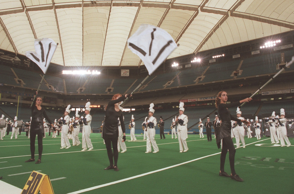 . Lakeland HS Band competing in the Michigan Competing Band Association State Championship at the Silverdome.