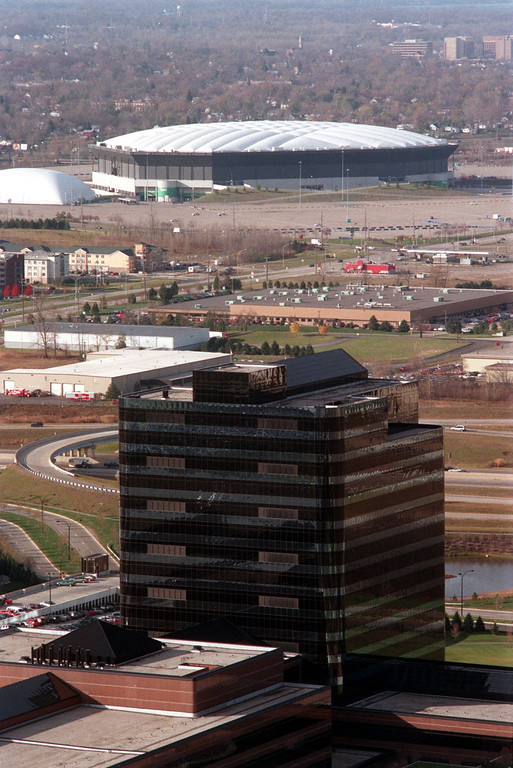 . The Pontiac Silverdome and the Chrysler Tech Center sit near each other in Oakland County.