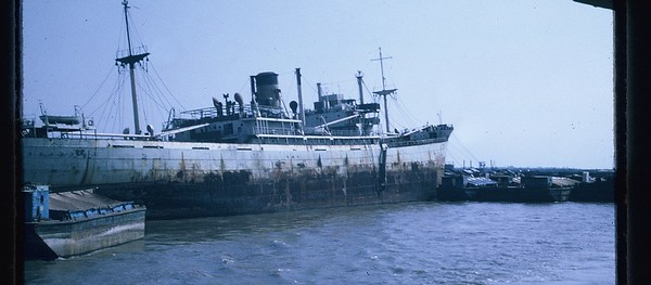 VC-2 freighter-possibly SS Baton Rouge hit Ssoviet mine in Long Tau River