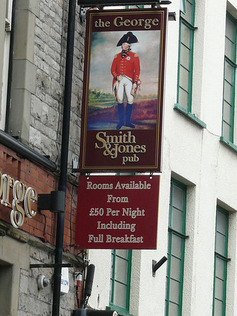 Pub Sign - The George, Moor Street, Chepstow 110721