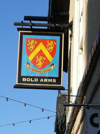 Pub Sign - Bold Arms, Castle Street, Beaumaris 101120