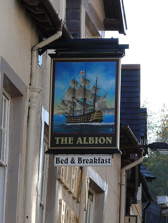 Pub Sign - The Albion, High Street, Bangor 101119