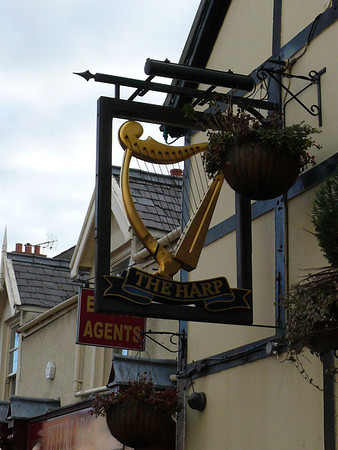 Pub Sign - The Harp, Market Street, Abergele 101123