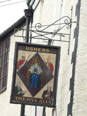 Pub Sign - The Five Alls, Hocker Hill Street, Chepstow 110721