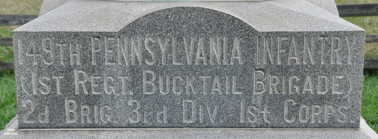 The monument for the 149TH PVI.