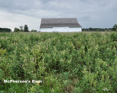 McPherson's Barn was located behind the 149th and was a focal point for Confederate attacks.