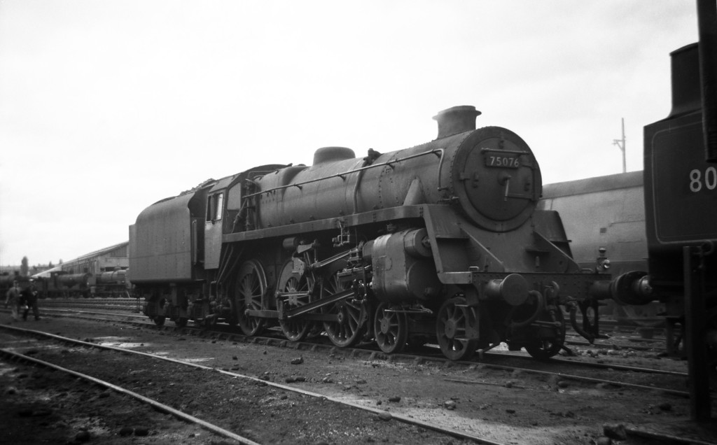 75076, Exmouth Junction Shed, Exeter, May 19, 1963.
