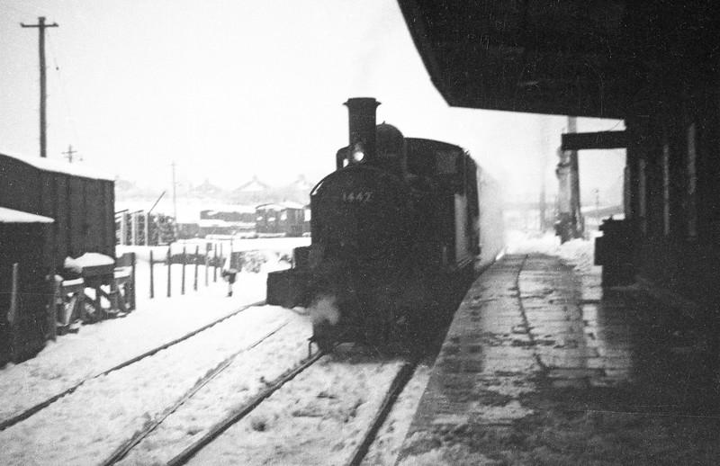 1442, Tiverton Junction-Hemyock, Tiverton Junction, January 5, 1963.