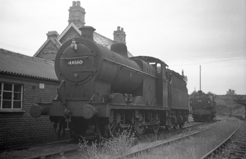 44560 and 4691, Templecombe Shed, April 27, 1963.