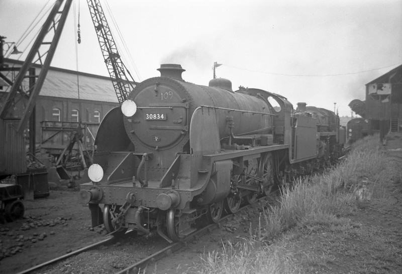 30834, Eastleigh Shed, May 30, 1964.