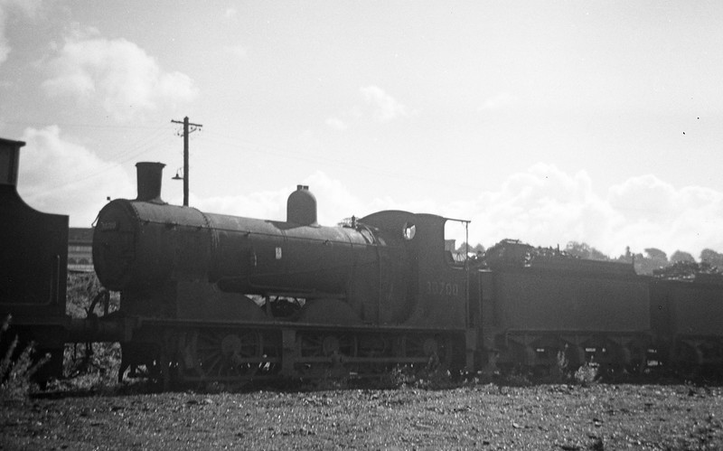 30700, stored for scrapping behind coaling plant, Exeter St David's Shed, September 7, 1963.