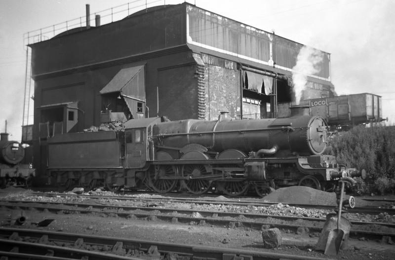 5071 Spitfire, St Phillip's Marsh Shed, Bristol, August 18, 1963.