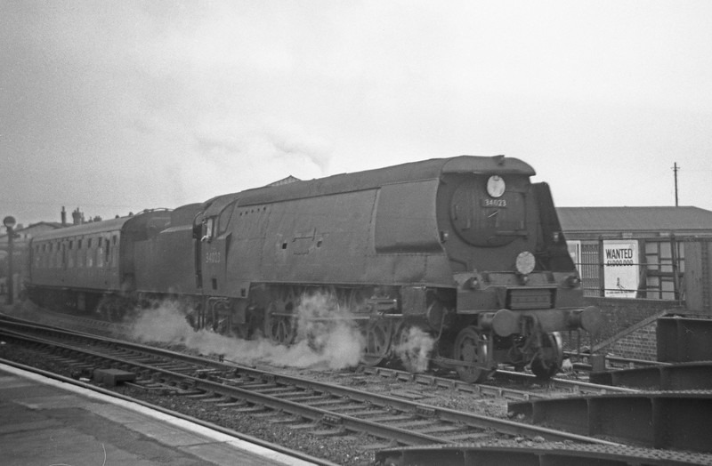 34023 Blackmore Vale, Exeter Central-London Waterloo, Salisbury, May 30, 1964.