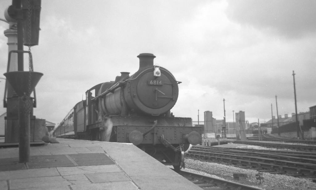 6814 Enborne Grange, down passenger, Newton Abbot, August 13, 1963.