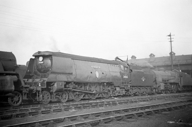34061 73 Squadron, Exmouth Junction Shed, Exeter, May 19, 1963.