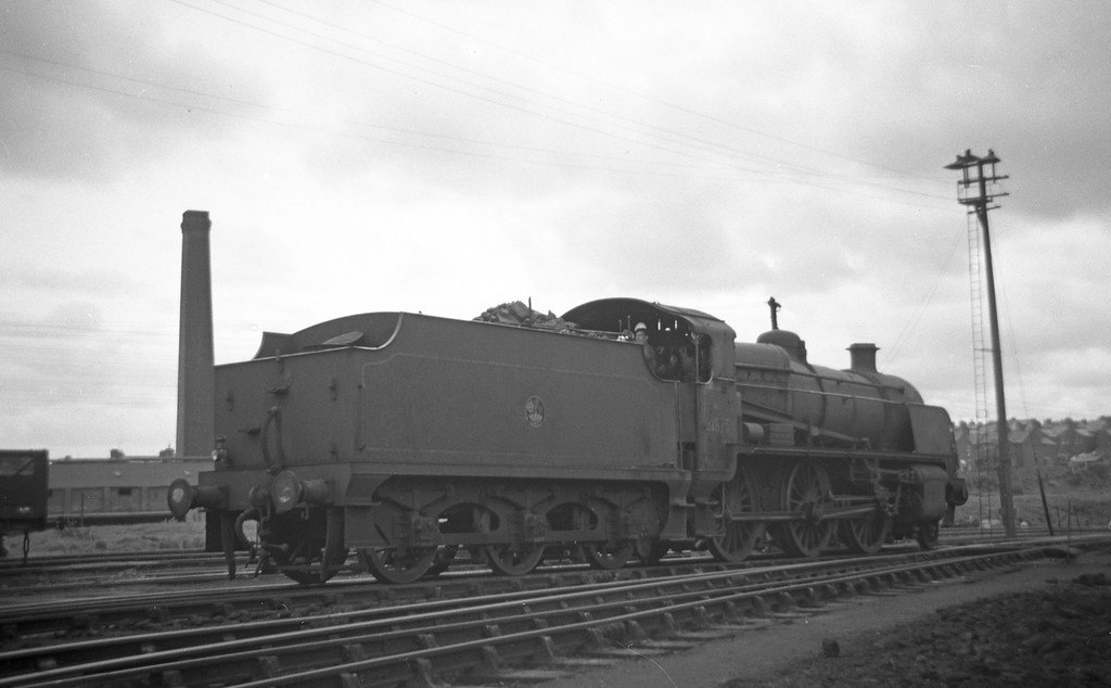31875, backing on to Exmouth Junction Shed, Exeter, May 19, 1963.