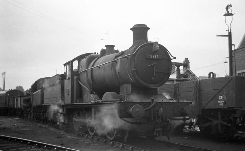 2217, Templecombe Shed, April 27, 1963.
