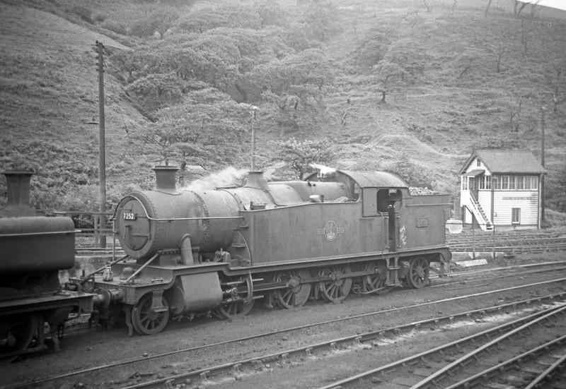 7252, Duffryn Yard Shed, Port Talbot, August 31, 1963.
