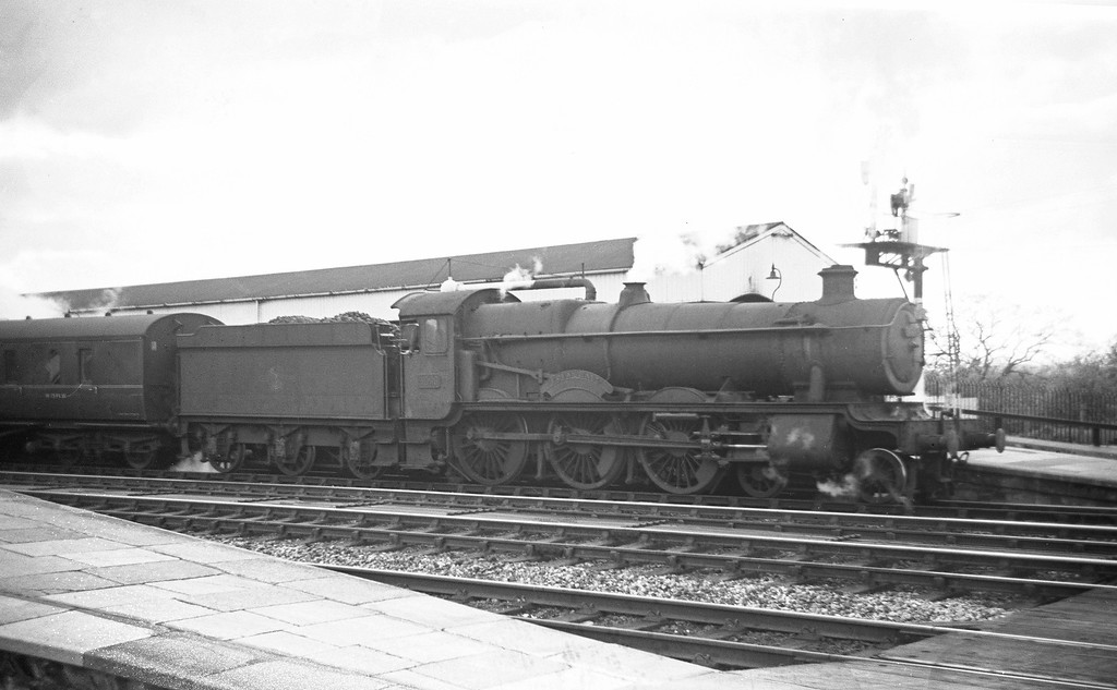 4996 Eden Hall, up stopper, Tiverton Junction, May 4, 1963