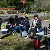 Picnic at Vaughn Springs ... Beau, Gwenda, Bronwyn, Geoff, John, Noellene and David