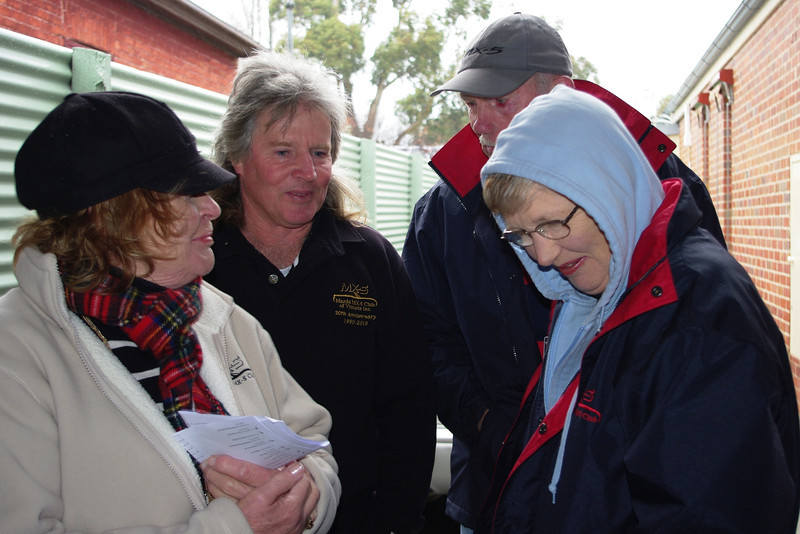 Mmmm ... gotta love winter in Ballarat! Dawn,  Ian, Ron and Marg ...