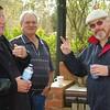 Day 1: Jeff, Alan and Lockie at morning tea