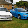Brock Commodore and a 2009 Monaro