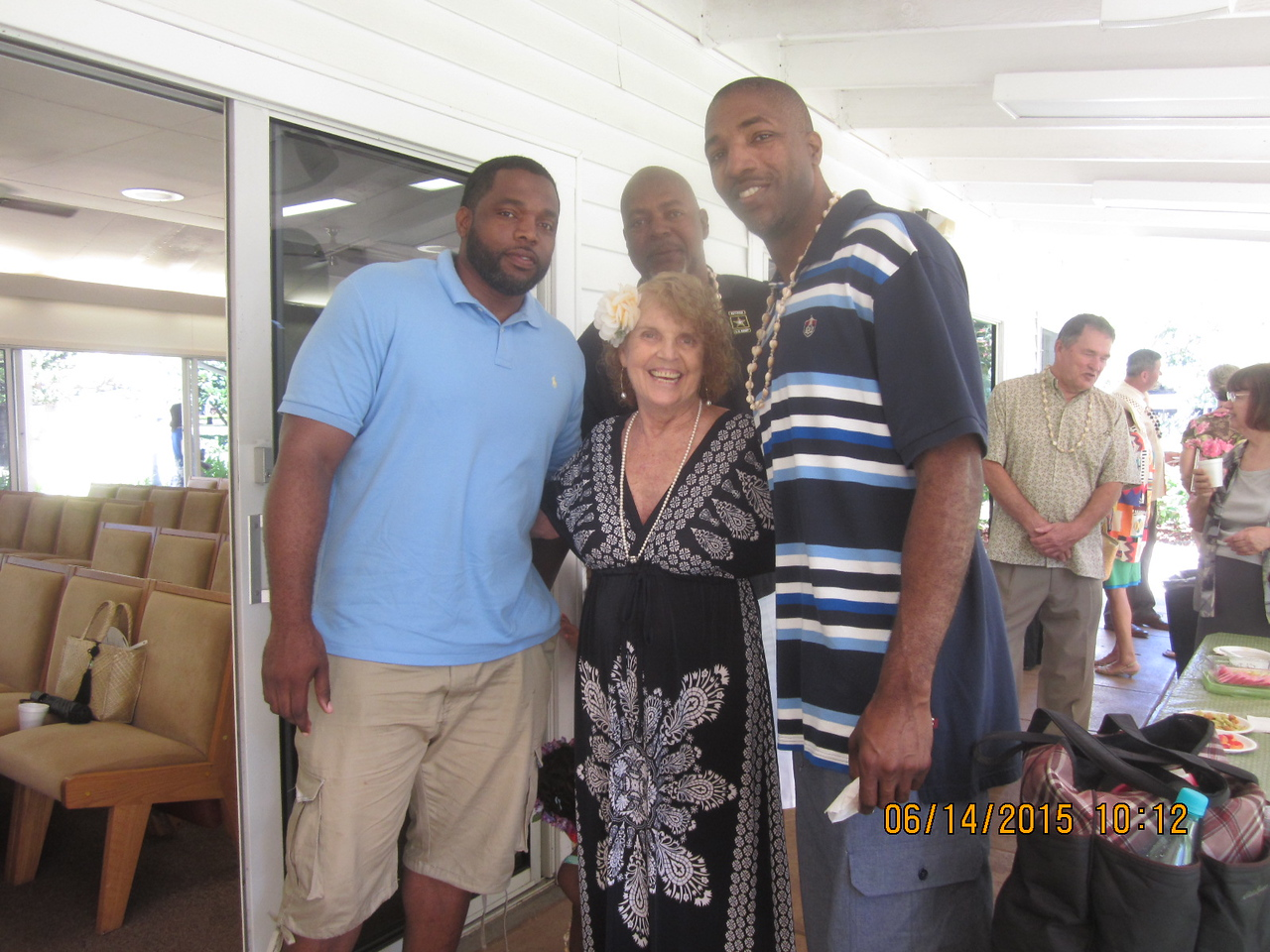 another shot of Lynne with 3 handsome boys..