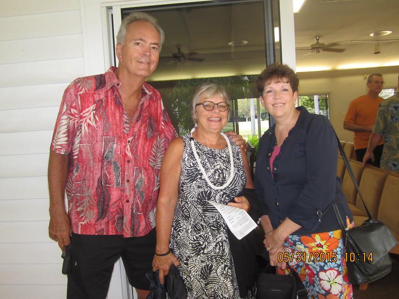 Dan & Rita with Patty, long time no see