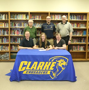 4-29 Emily Riesenberg Signing with Clarke