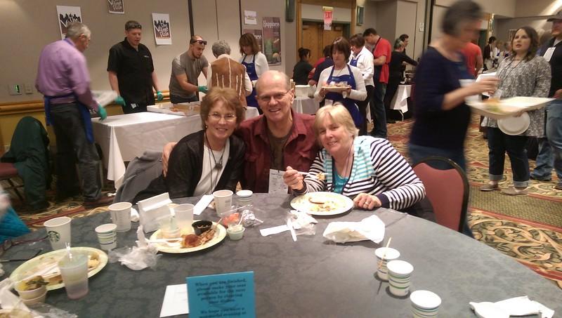 Estes Park locals Karan McCreery, Sam McCreery and Trudy Hewitt enjoy their evening out at Taste of Estes.
