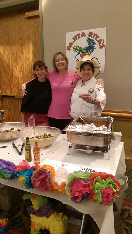 The Fajita Rita's team had a festive booth as they served guests at the event.