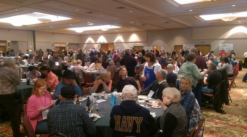 The Estes Park Convention Center was packed Thursday night with local and out-of-town visitors attending the 32nd annual Taste of Estes event.