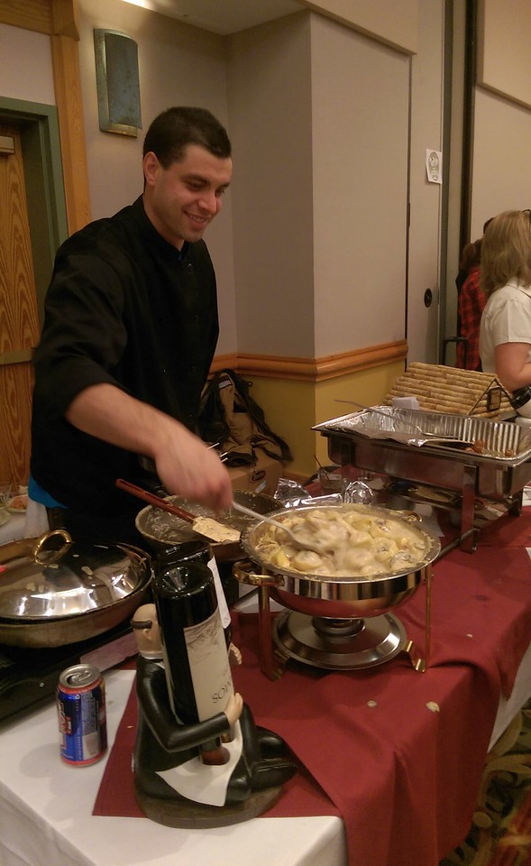 The Dunraven Inn serving up tortellini in a mushroom cream sauce.