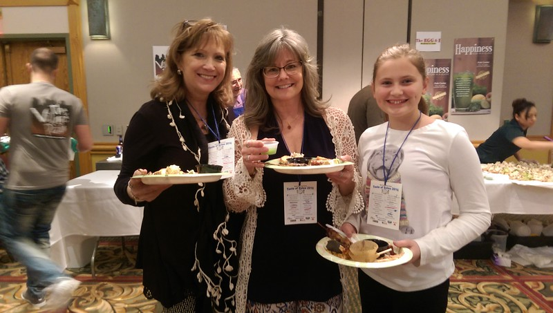 Tina Thompson, Stephanie Scrutchins and Reese Thompson filled their plates with a wide variety of food.