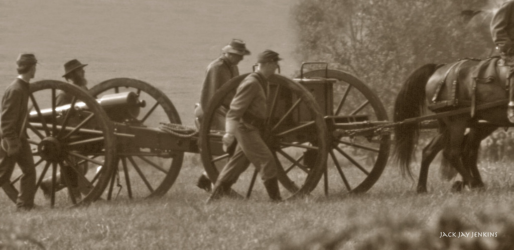 Mile after mile teams of horses pulled hundreds of cannons through Virginia, Maryland and into Pennsylvania.