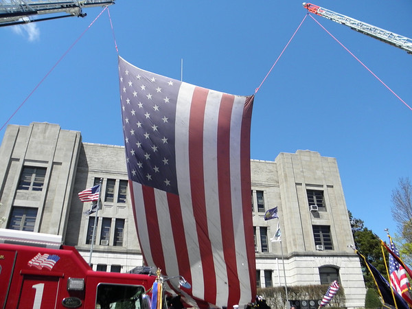9-11 flag ceremony hazleton pa. 4-30-11
