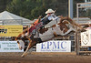Walt Hester | Trail-Gazette<br /> Doug Champion of Woodland, Texas takes flight on Wednesday. Three riders scored 80 points during the event on Wednesday.