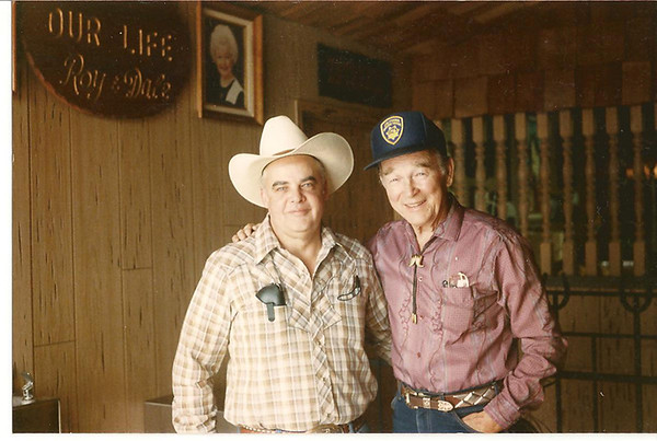 Roy and Ron.jpg Ron Ball, left, with the legendary cowboy Roy Rogers.