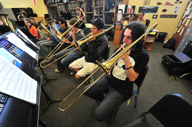 The Estes Park Band practices on Monday. Art takes many forms in the schools; bands, choirs and drama as well as drawing and painting.