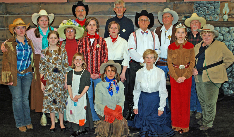 "The very serious cast of ""The Great Estes Park Rodeo Caper or Anything for a Buck"""